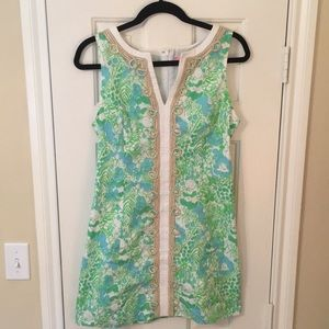 Lilly Pulitzer Limeade its a Zoo Shift dress